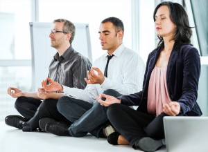 Workplace Yoga meditate