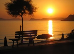 arillas-beach-sunset
